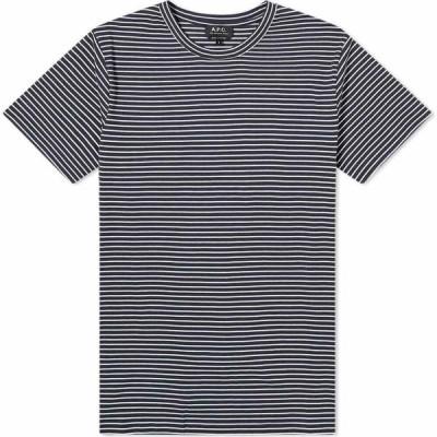 アーペーセー A.P.C. メンズ Tシャツ トップス Jimmy Tee Navy/Ecru