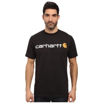 カーハート シャツ トップス メンズ Signature Logo S/S T-Shirt Black