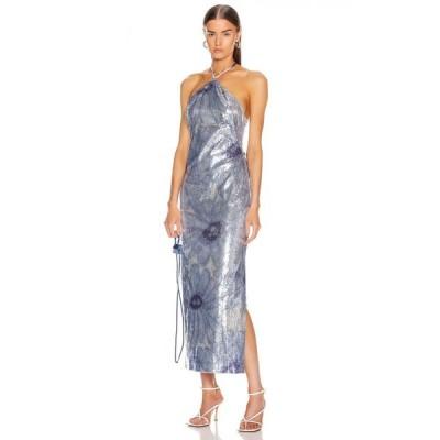 ジャックムス JACQUEMUS レディース ワンピース ワンピース・ドレス la robe lavandou Sequin Blue Flowers