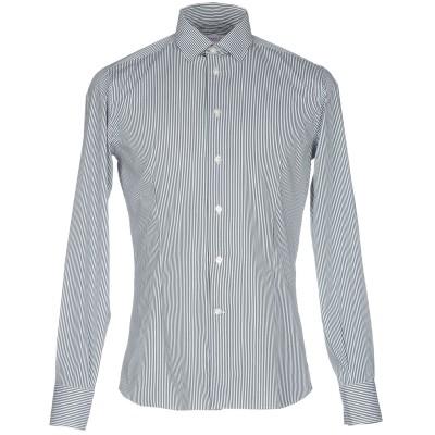 BRANCACCIO シャツ ダークグリーン 45 コットン 74% / ナイロン 20% / ポリウレタン 6% シャツ