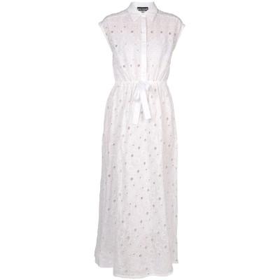 BOUTIQUE MOSCHINO ロングワンピース&ドレス ホワイト 40 コットン 100% ロングワンピース&ドレス