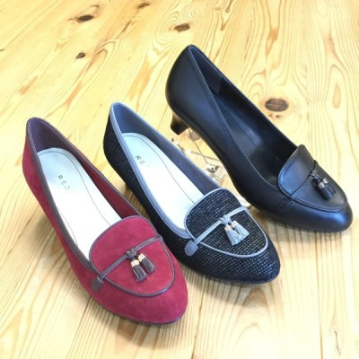店頭展示品在庫処分 REGAL f12h リーガル レディース フェミニンヒールモカシン 靴