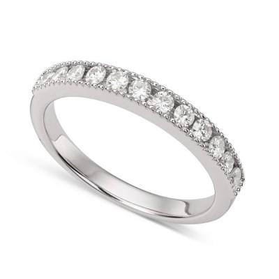 Forever Classic White Gold 2.0mm Moissanite Ring - size 5, 0.36cttw DE