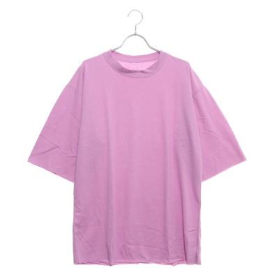 アムールボックス AMOUR BOX 切りっぱなしカットソー Tシャツ カットソー 新作 ゆったり ルーズフィット 切りっぱなし レディース トップス (パープル)