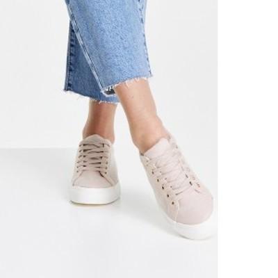 トップショップ レディース スニーカー シューズ Topshop Camden lace up sneakers in blush Blush