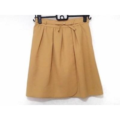アプワイザーリッシェ Apuweiser-riche スカート サイズ2 M レディース イエローベージュ リボン【中古】
