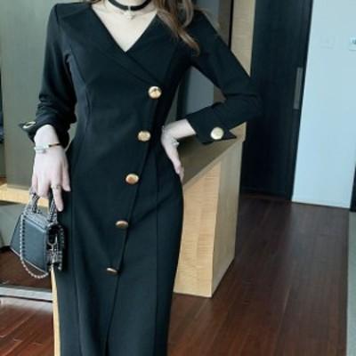 ドレス キャバドレス パーティードレス 大きいサイズ カシュクール  無地 タイト ひざ丈 フォーマル キャバ嬢