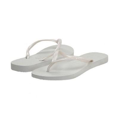 Havaianas ハワイアナス レディース 女性用 シューズ 靴 サンダル Slim Flip Flops - White