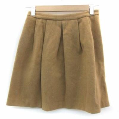【中古】ノーリーズ Nolley's スカート フレア ミニ丈 ウール 36 ブラウン 茶 /YM20 レディース