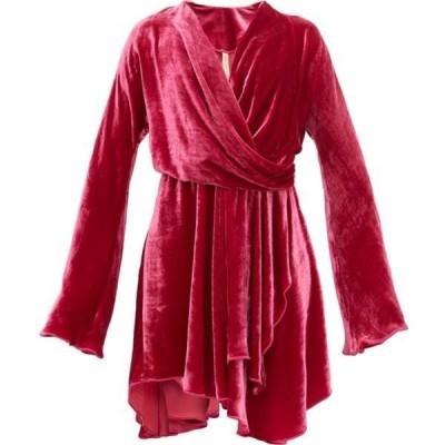 マリア ルーシア ホーハン Maria Lucia Hohan レディース パーティードレス ワンピース・ドレス Nola draped velvet dress Pink