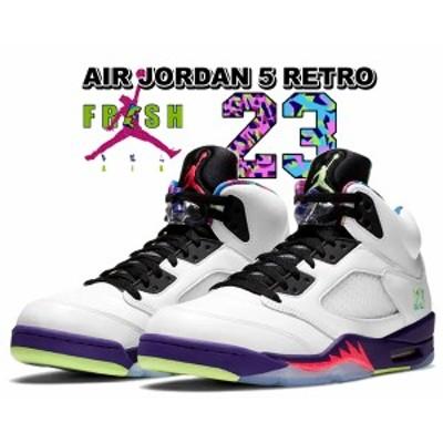 【ナイキ エアジョーダン 5 レトロ ベルエア】NIKE AIR JORDAN 5 RETRO Alternate Bel-Air white/ghost green-court purple db3335-100