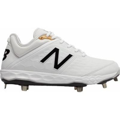 ニューバランス メンズ スニーカー シューズ New Balance Men's 3000 V4 Metal Baseball Cleats White/White