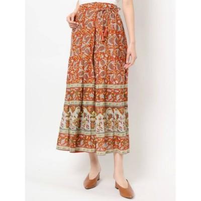 ラップ風パネル柄スカート