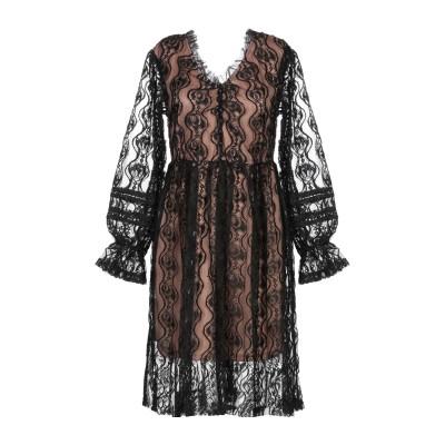 VANESSA SCOTT ミニワンピース&ドレス ブラック S ポリエステル 50% / コットン 30% / ナイロン 20% ミニワンピース&