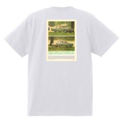 アドバタイジング ポンティアック 411 白 Tシャツ 黒地へ変更可能 1963 グランプリ テンペスト ボンネビル カタリナ アメ車