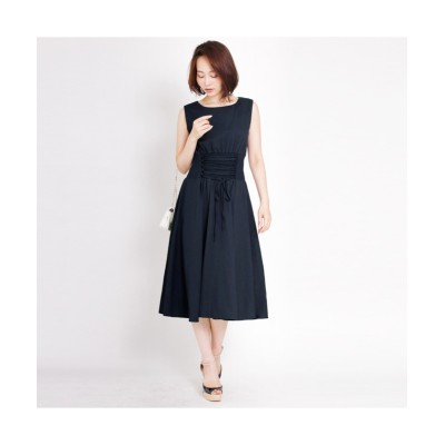 MARTHA(マーサ) ノースリーブシャーリングウェストワンピース (ワンピース)Dress