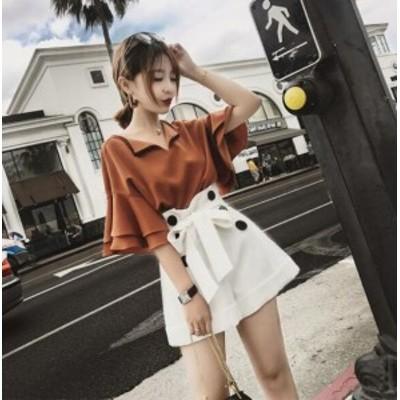 【送料無料上下2点セット】 トップス+スカート セットアップ  レディース服 痩せたワンピースのセット 韓国ファッション 可愛い  レディ