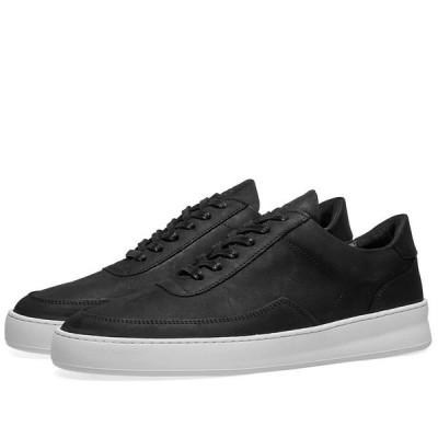 フィリング ピース Filling Pieces メンズ スニーカー ローカット シューズ・靴 low mondo plain nardo nubuck sneaker Black