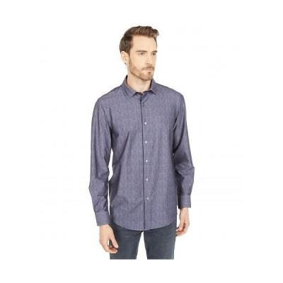 Bugatchi ブガッティ メンズ 男性用 ファッション ボタンシャツ Luca Long Sleeve Ooohcotton Tech Shirt Point Collar - Charcoal