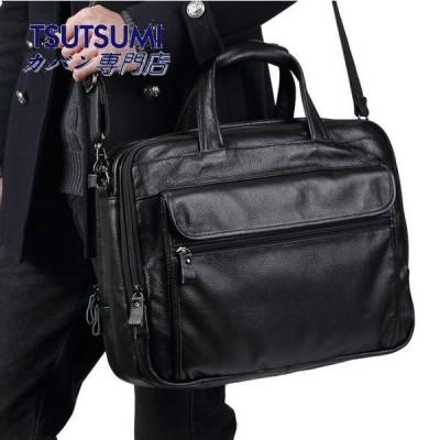 メンズバッグブリーフケースビジネスバッグパソコンバッグショルダーバッグハンドバッグ本革A4サイズ3way防振防水大容量通学通勤