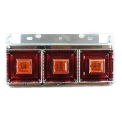 [お取寄せ] JB 角型小型3連テールランプ L/R (リレー無[ウィンカー全灯]) ※DC24V専用 [9242021]