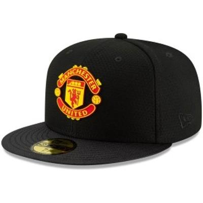 ニューエラ メンズ 帽子 アクセサリー Manchester United New Era Sport 59FIFTY Fitted Hat Black
