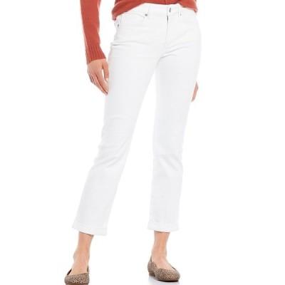 エヌワイディージェイ レディース デニムパンツ ボトムス Sheri Slim Roll-Cuff Ankle Jeans White