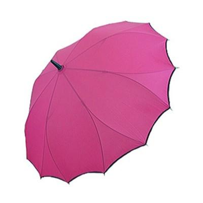 傘 レディース 折れにくい 雨傘 (ダークピンク(01))