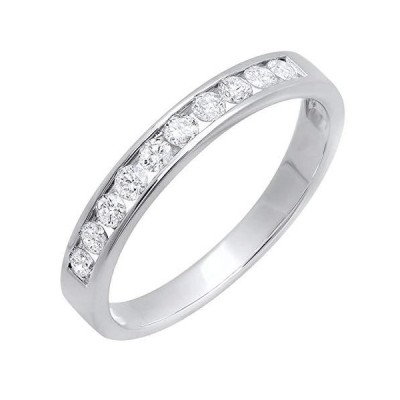 Dazzlingrock Collection 0.40カラット (ctw) 18K ゴールド ラウンド 人工ダイヤモンド レディース 記念日 結婚式