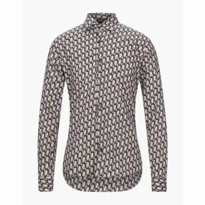 タケシ クロサワ TAKESHY KUROSAWA メンズ シャツ トップス patterned shirt Black