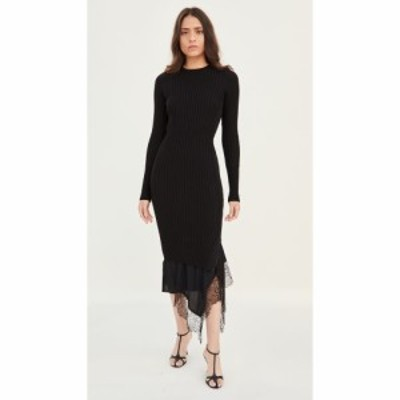ヌメロ ヴェントゥーノ No. 21 レディース ワンピース スリップドレス ワンピース・ドレス Long Sleeve Knit / Slip Dress Black