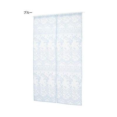 トモコーポレーション のれん ブルー サイズ/W約85×H約150cm 取り付け用ループ幅約5cm