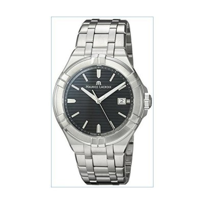 Maurice Lacroix Men's Aikon Swiss Quartz Watch with Stainless Steel Strap, Silver, 22 (Model: AI1008-SS002-332-1)並行輸入品