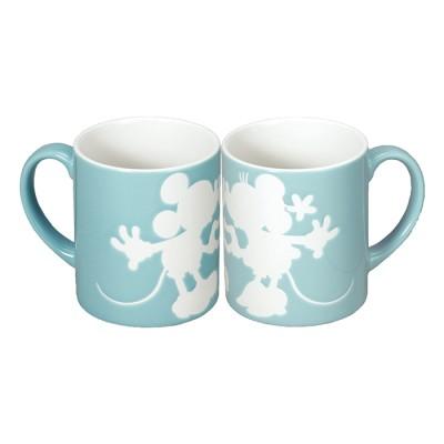 ミッキー&ミニー ペアマグカップ ブルー