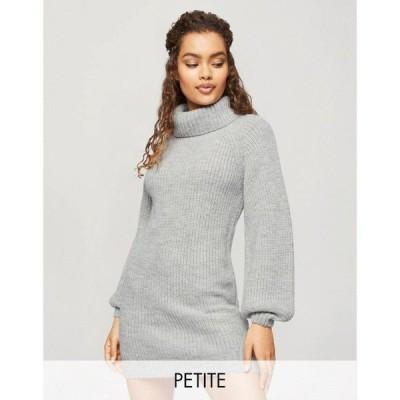 ミス セルフリッジ Miss Selfridge Petite レディース ワンピース ワンピース・ドレス Roll Neck Jumper Dress In Grey グレー
