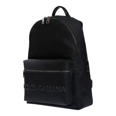 ドルチェ & ガッバーナ DOLCE & GABBANA バックパック&ヒップバッグ ブラック ナイロン 68% / 牛革(カーフ) 20% / ナ
