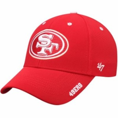 47 フォーティーセブン スポーツ用品  47 San Francisco 49ers Scarlet Condensor MVP Adjustable Hat