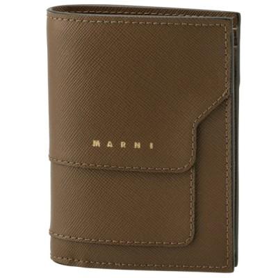 マルニ MARNI 2021年秋冬新作 財布 二つ折り ミニ財布 サフィアーノレザー 二つ折り財布 PFMOQ14U07 LV520 Z472N