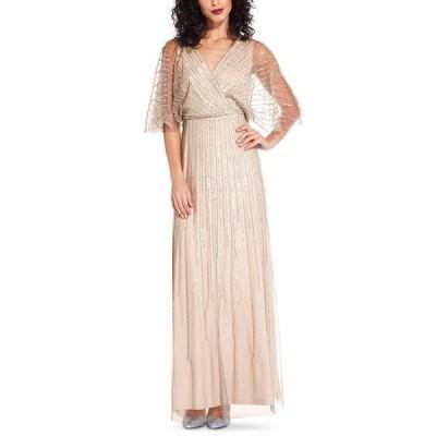 アドリアナ パペル ワンピース トップス レディース Beaded Kimono-Sleeve Gown Blush