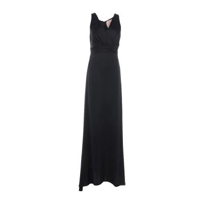 KITAGI® ロングワンピース&ドレス ブラック 40 レーヨン 100% ロングワンピース&ドレス