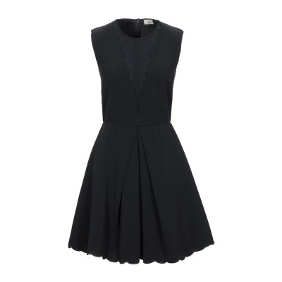 EMMA & GAIA ミニワンピース&ドレス ブラック 44 ポリエステル 100% ミニワンピース&ドレス