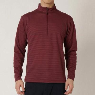 ブレスサーモミニボーダージップネックシャツ(メンズ) MIZUNO ミズノ アウトドア トラベル トラベルウエア シャツ (B2MA9569)
