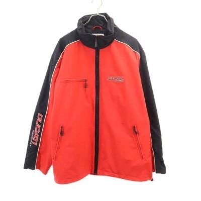 ドゥカティキアボックス ライディング ジャケット L DUCATI GEARBOX バイク ナイロン オートバイ 赤×黒 メンズ 200317