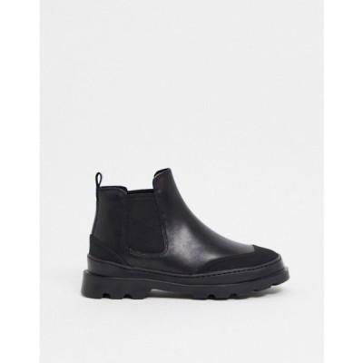 カンペール Camper レディース ブーツ チェルシーブーツ シューズ・靴 chunky leather chelsea boots in black ブラック