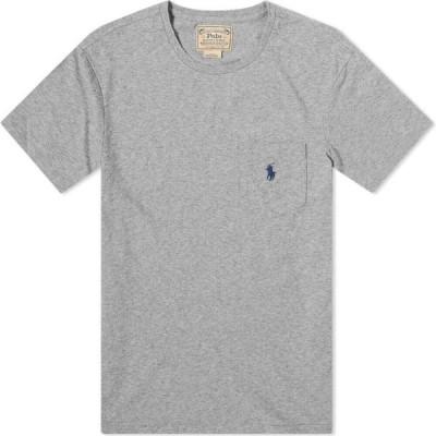 ラルフ ローレン Polo Ralph Lauren メンズ Tシャツ ポケット トップス slub pocket tee Dark Vintage Heather