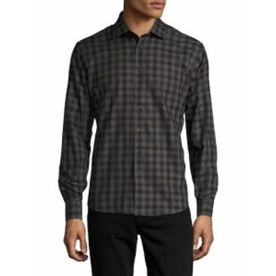 トスカーノ メンズ カジュアル ボタンダウンシャツ Tartan Printed Sportshirt