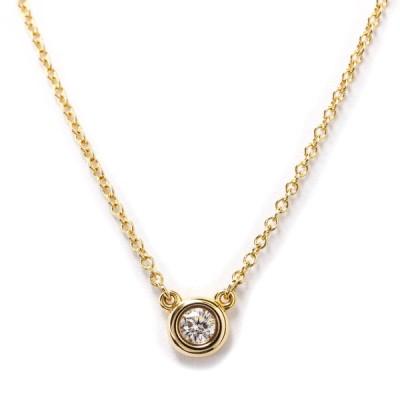 ティファニー  ダイヤモンド バイ ザ ヤード K18 イエロー ゴールド K18 YG ネックレス 【中古】