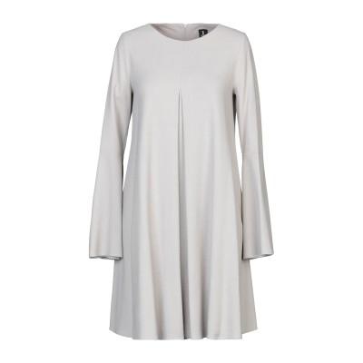 1-ONE ミニワンピース&ドレス ライトグレー 40 レーヨン 70% / バージンウール 28% / ポリウレタン 2% ミニワンピース&ドレス