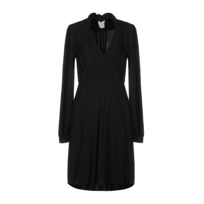 ノリータ NOLITA ミニワンピース&ドレス ブラック L レーヨン 100% ミニワンピース&ドレス