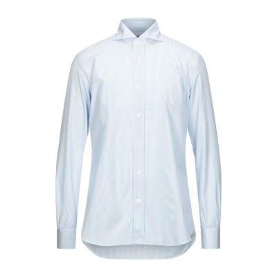 MAZZARELLI シャツ スカイブルー 43 コットン 100% シャツ